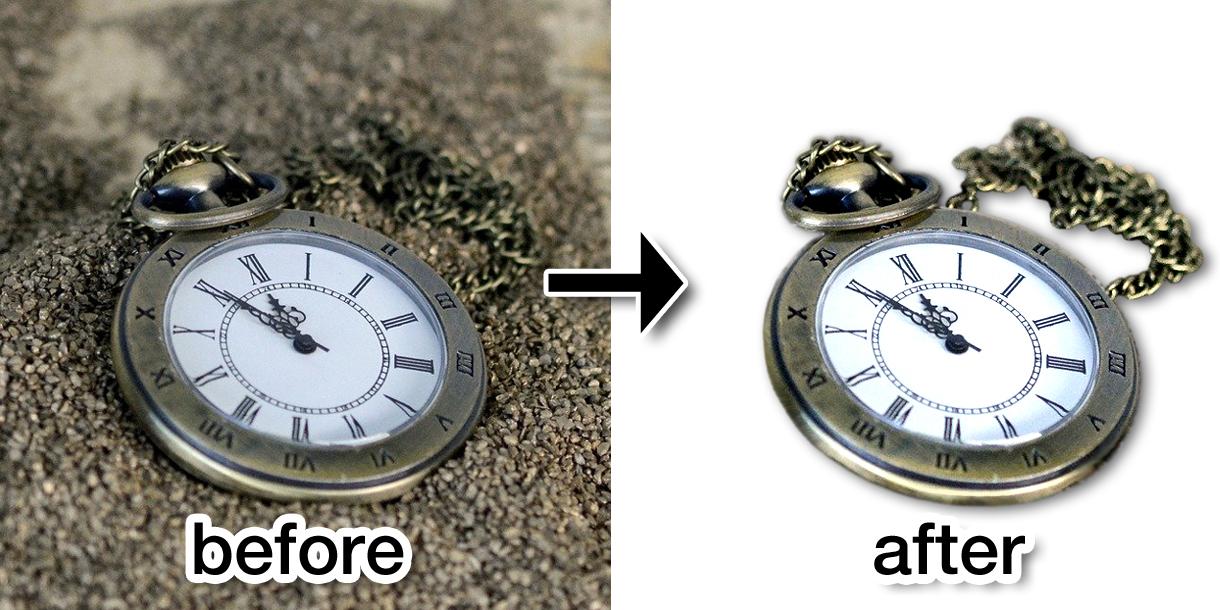切抜き時計